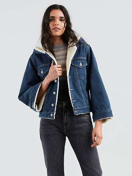 Levi's® Made & Crafted® Cropped Sherpa Trucker Jacket