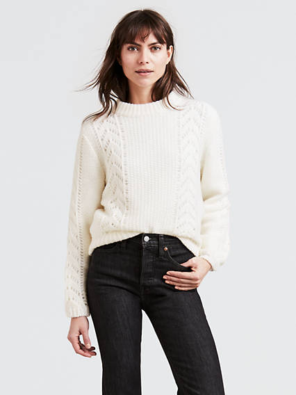 Pointelle Sweater Sweaters
