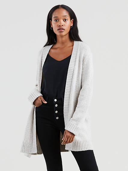 Wide Belted Cardigan Sweater
