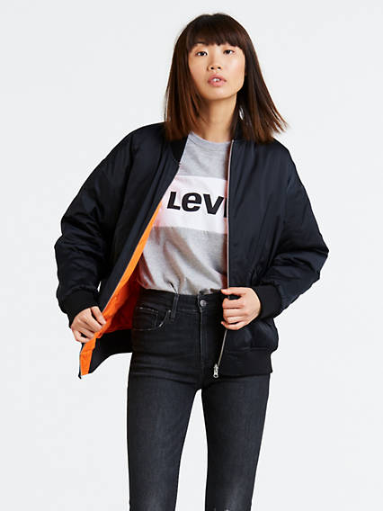 Liv Reversible Bomber Coat