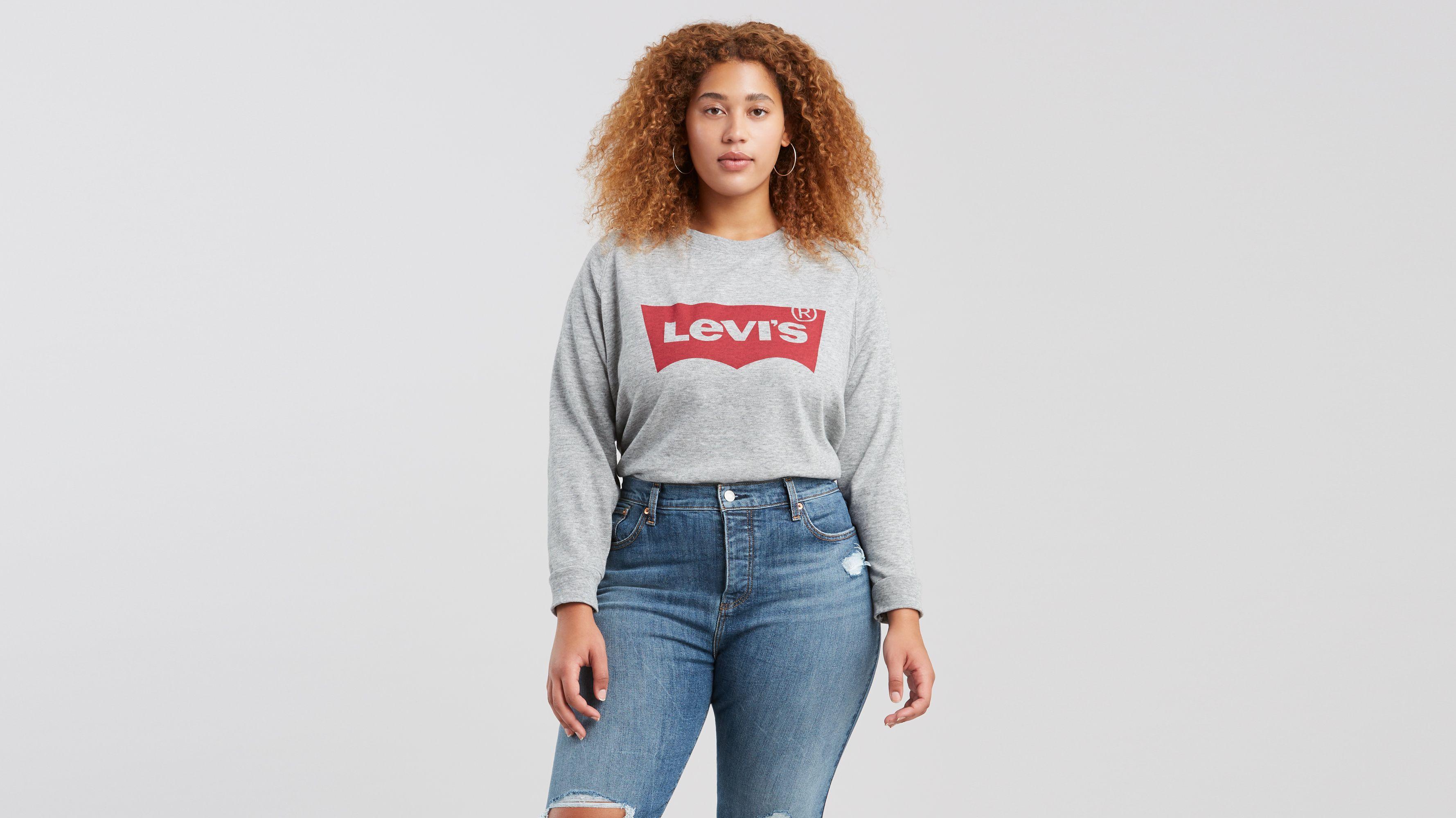 Levi's® Logo Relaxed Crewneck Sweatshirt (Plus Size)