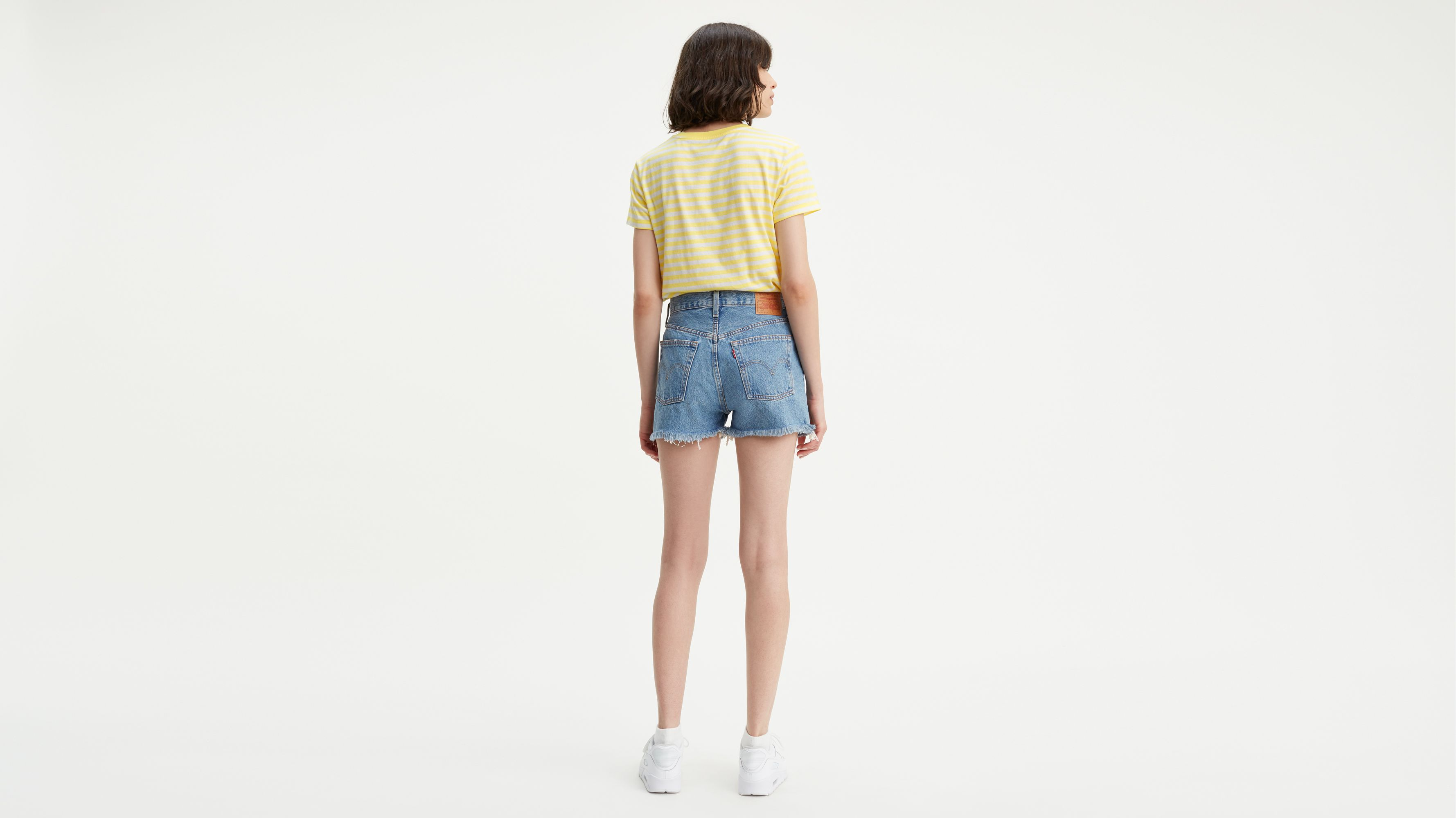 501® High waisted Shorts Azul | Levi's® ES