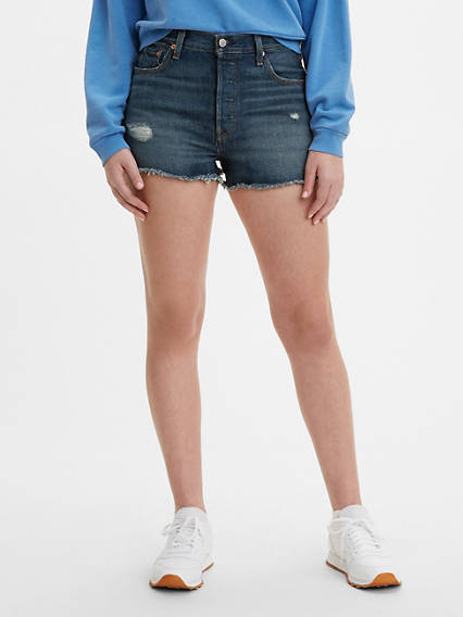 Vintage High Waisted Shorts, Sailor Shorts, Retro Shorts Levis 501 High Rise Shorts - Womens 23 $69.50 AT vintagedancer.com