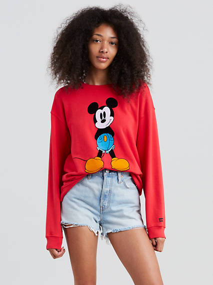 Levi's® X Mickey Mouse Graphic Drop Shoulder Cr Sweatshirt