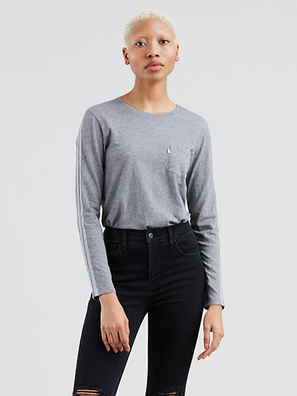 Long Sleeve Perfect Pocket Tee Shirt