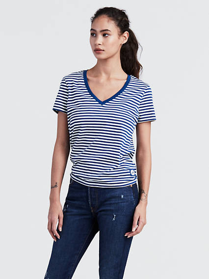 Levi's® MLB Stripe V-Neck Tee