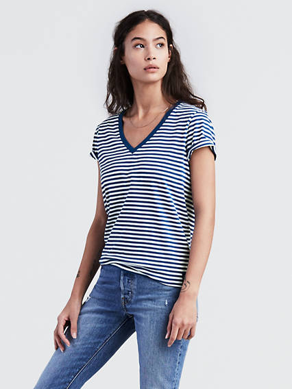 Levi's® MLB Stripe V-Neck Tee Shirt