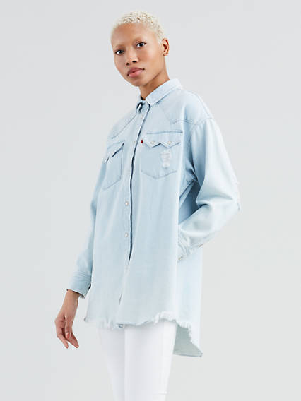Oversized Sawtooth Western Shirt