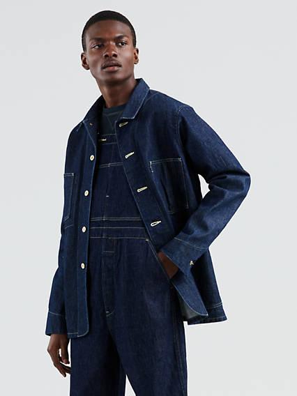 Men's Vintage Workwear – 1920s, 1930s, 1940s, 1950s Levis Poggy Sack Coat - Mens XL $398.00 AT vintagedancer.com