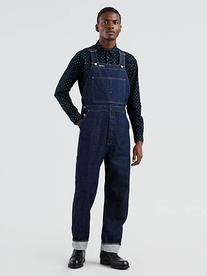 Men's Vintage Pants, Trousers, Jeans, Overalls Levis Poggy Overalls - Mens S $244.98 AT vintagedancer.com