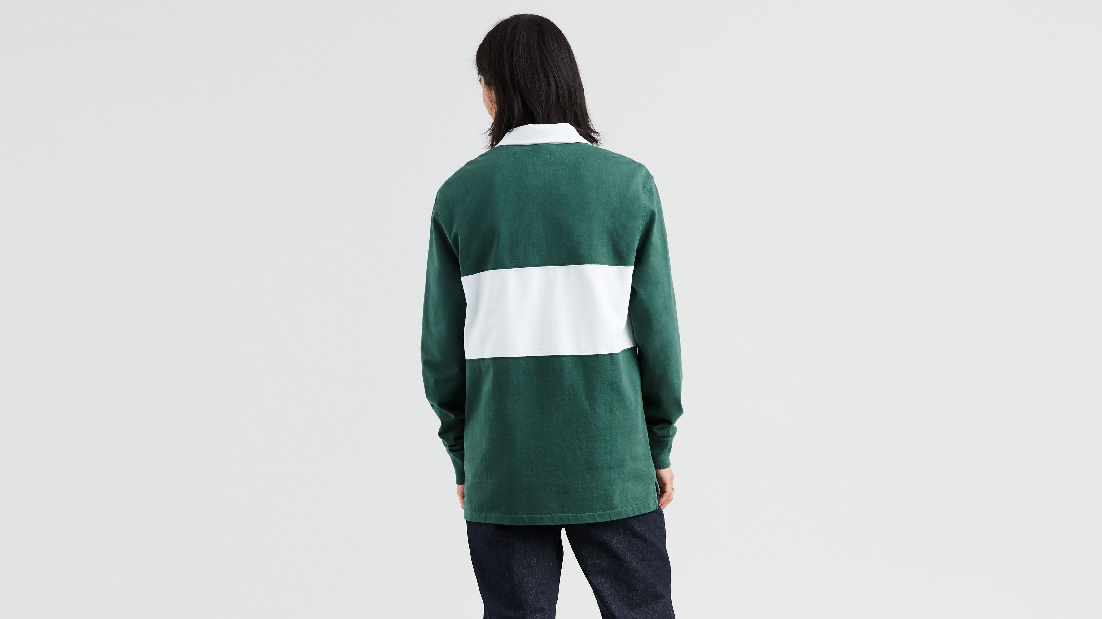 226f8095852 Levi's® Skateboarding Long Sleeve Rugby Polo - Green | Levi's® US