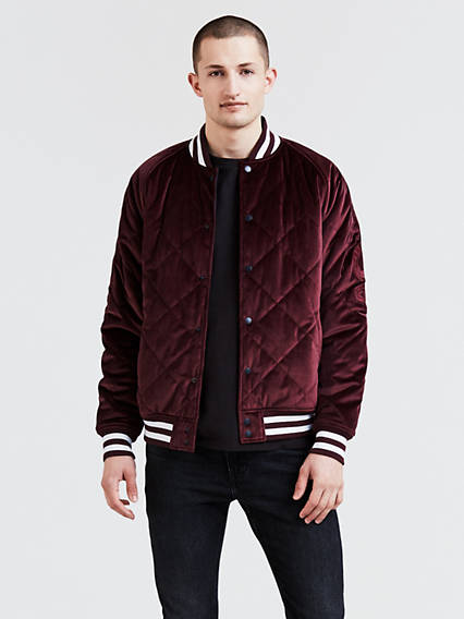 Reversible Thermore Varsity Bomber Jacket