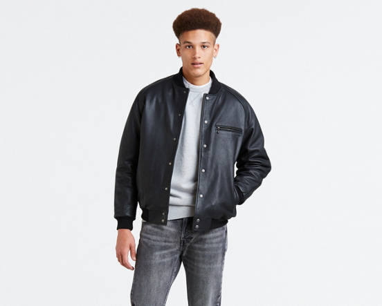 42acd70d1 Leather Bomber Jacket