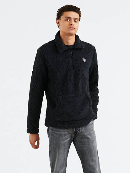 1/4 Zip Sherpa Sweatshirt