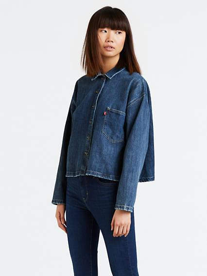 Midori Cropped Denim Shirt