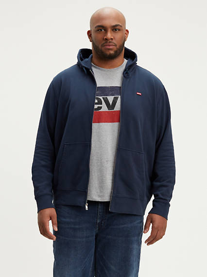 Classic  Zip Up Big Sweatshirt