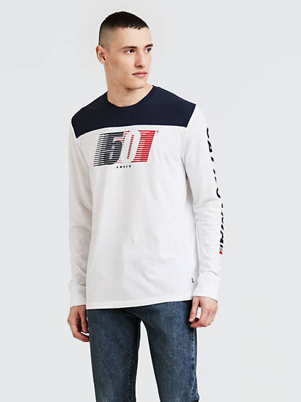 Long Sleeve Pieced Graphic Tee