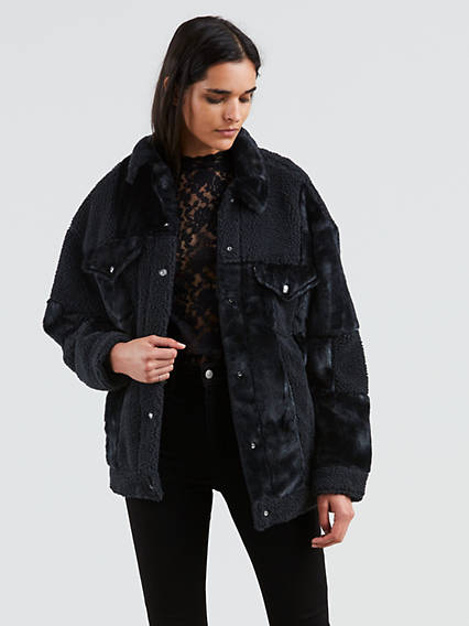 Patchwork Baggy Trucker Jacket
