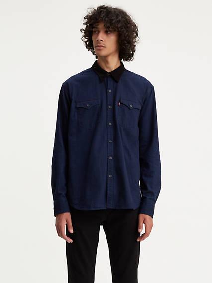 Corduroy Collar Barstow Western Shirt