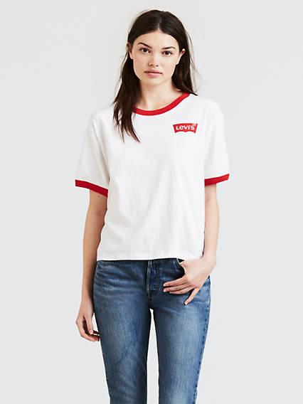 Levi's® Logo J.V. Ringer Tee Shirt