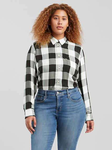 Ryan Button Back Shirt (Plus Size)