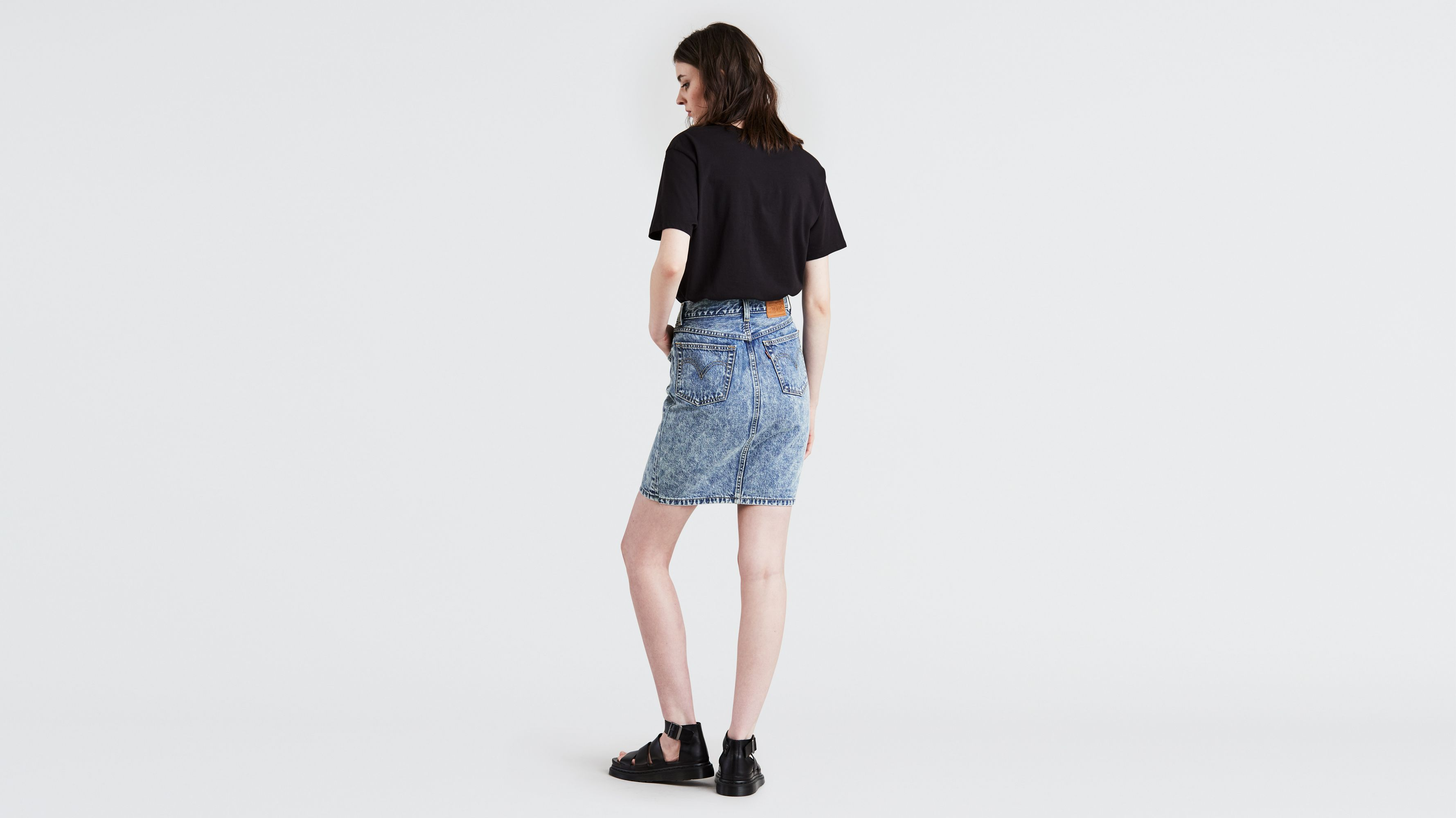 74bfb77d27 Button Through Midi Skirt - Medium Wash | Levi's® US