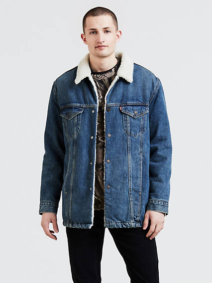 Long Sherpa Trucker Jacket