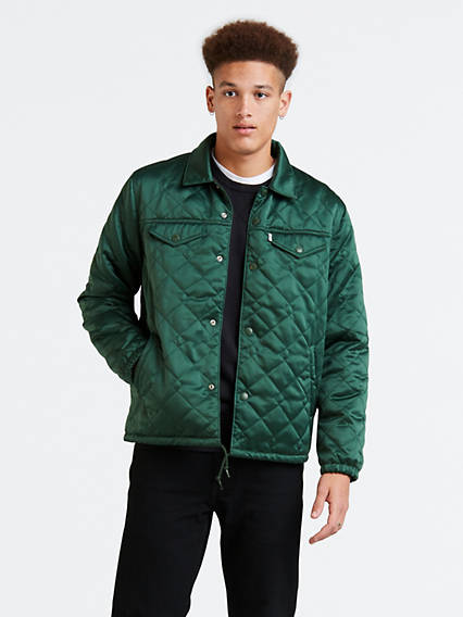 Quilted Coach's Trucker Jacket