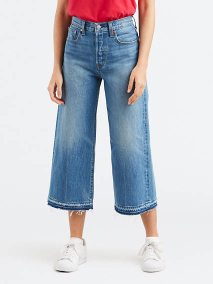 High Water Wide Leg Jeans