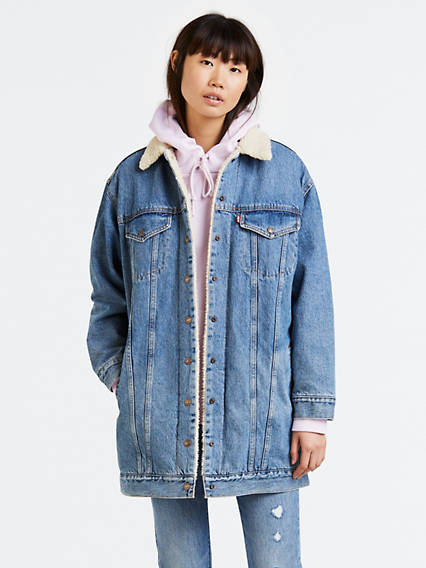 Lengthened Sherpa Trucker Jacket
