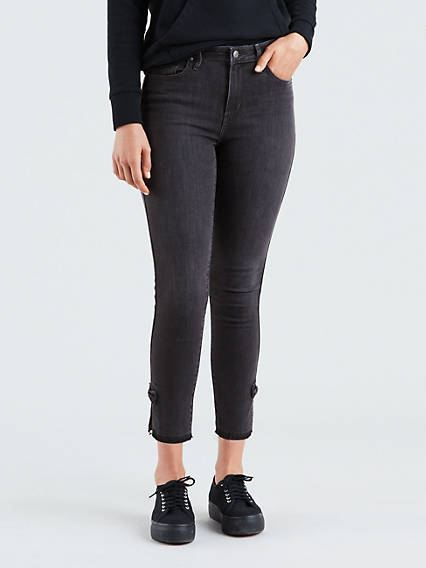 721 High Rise Skinny Jeans with Ankle Bows