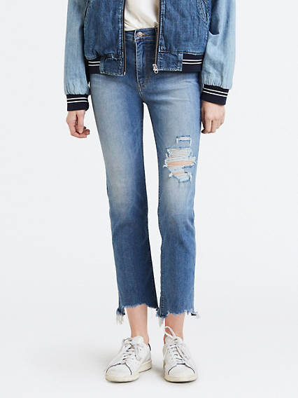 724 High Rise Straight Crop Jeans