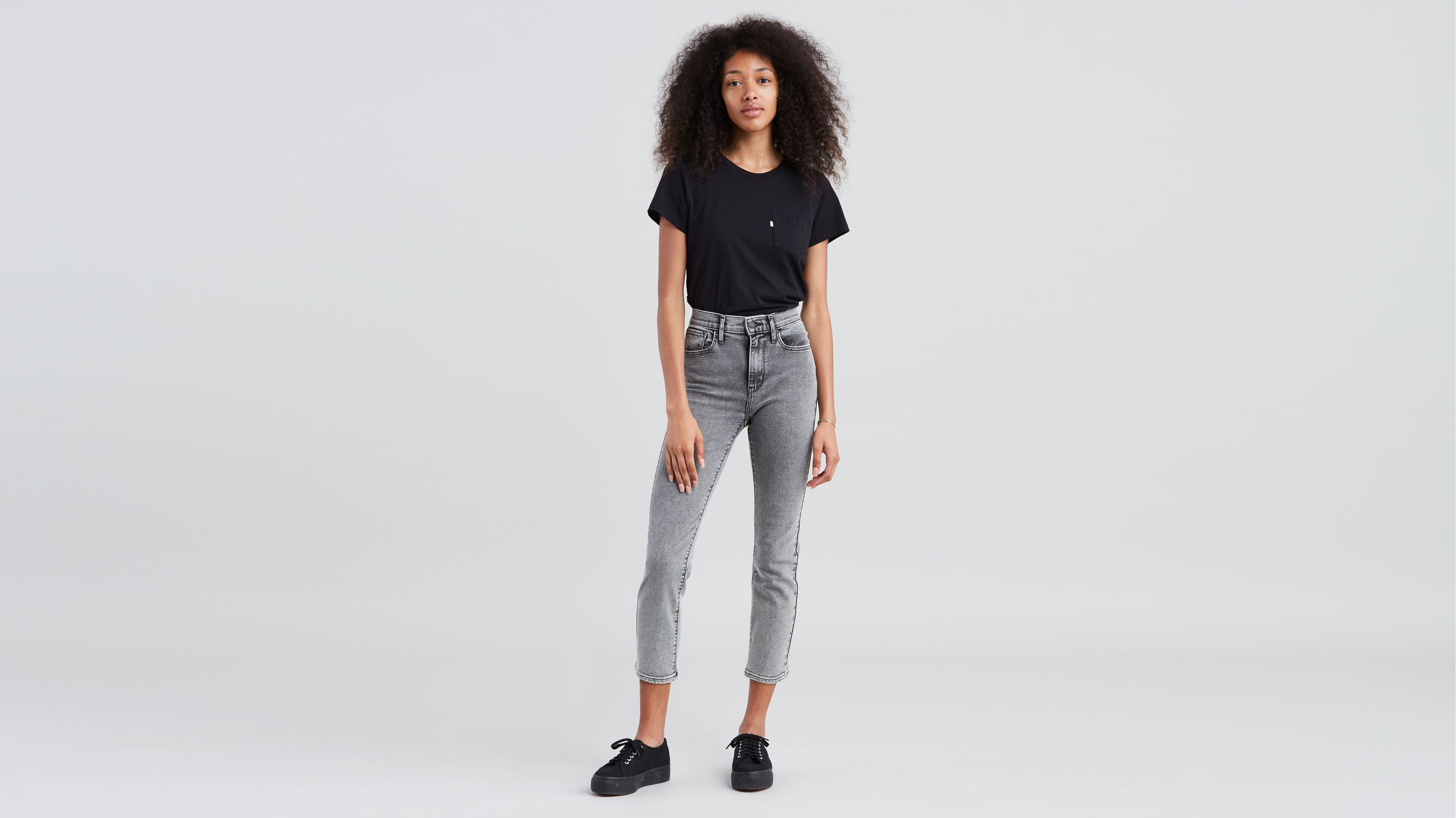 c23ee213 724 High Rise Straight Crop Jeans - Grey | Levi's® US