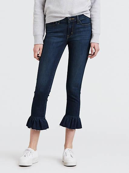711 Skinny Ruffle Jeans