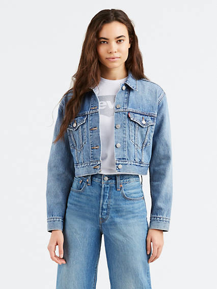 Cropped Trucker Jacket
