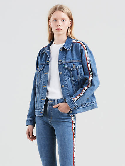 Ex-Bf Sequin Trucker Jacket