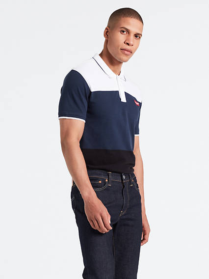 Colorblock Modern Polo