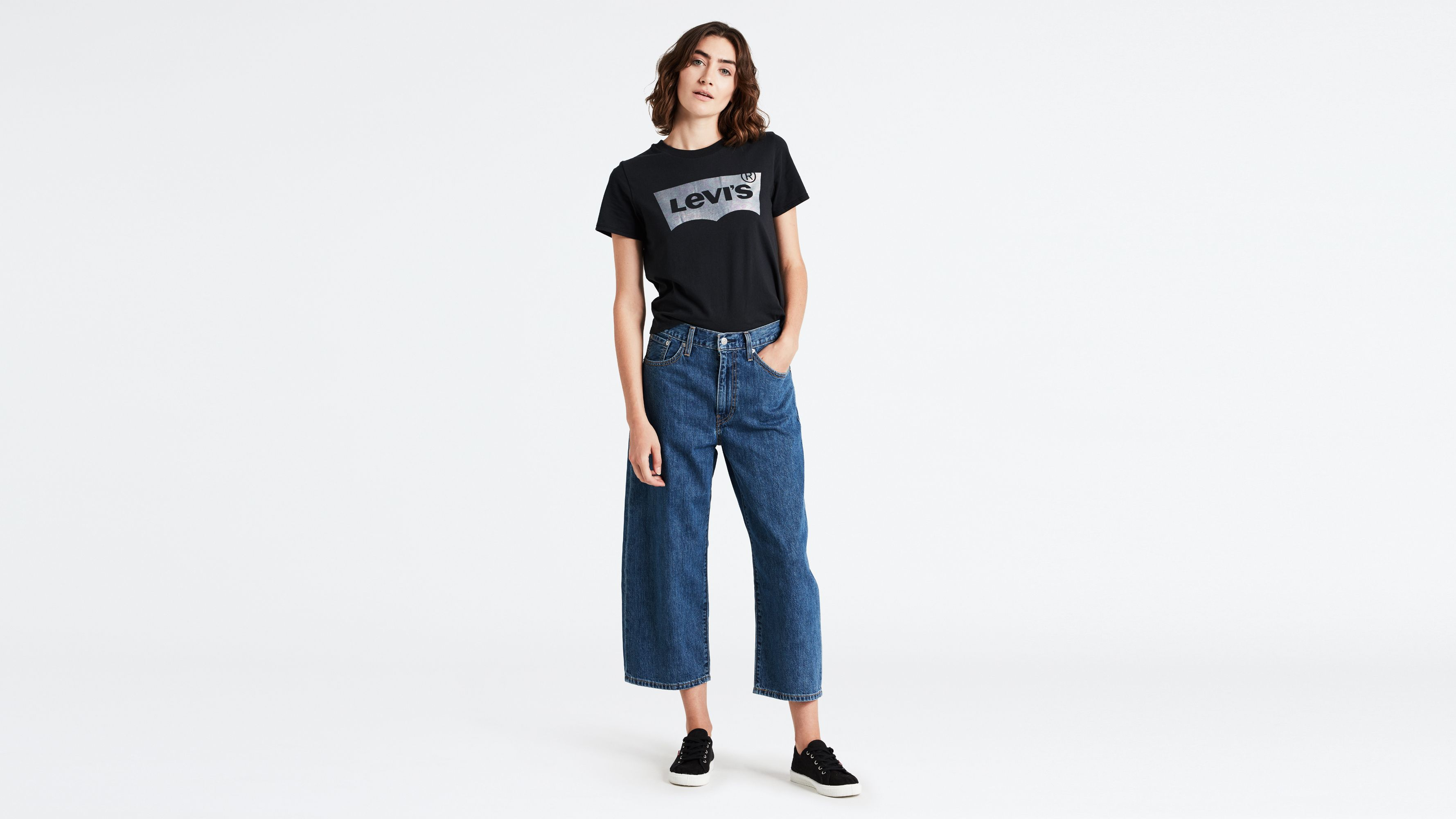 Fr Baggy Jeans Cropped Fursfqxwz Femme Collections Levi's® oxBerdC