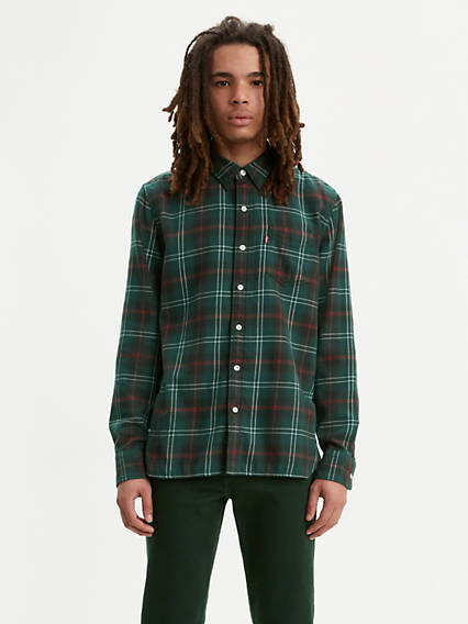 Plaid Sunset One Pocket Shirt