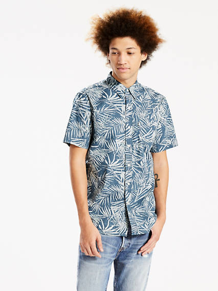 Short Sleeve Sunset One Pocket Shirt
