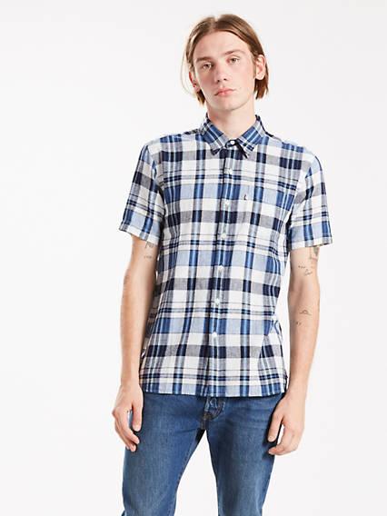 Short Sleeve Sunset One Pocket Shirt