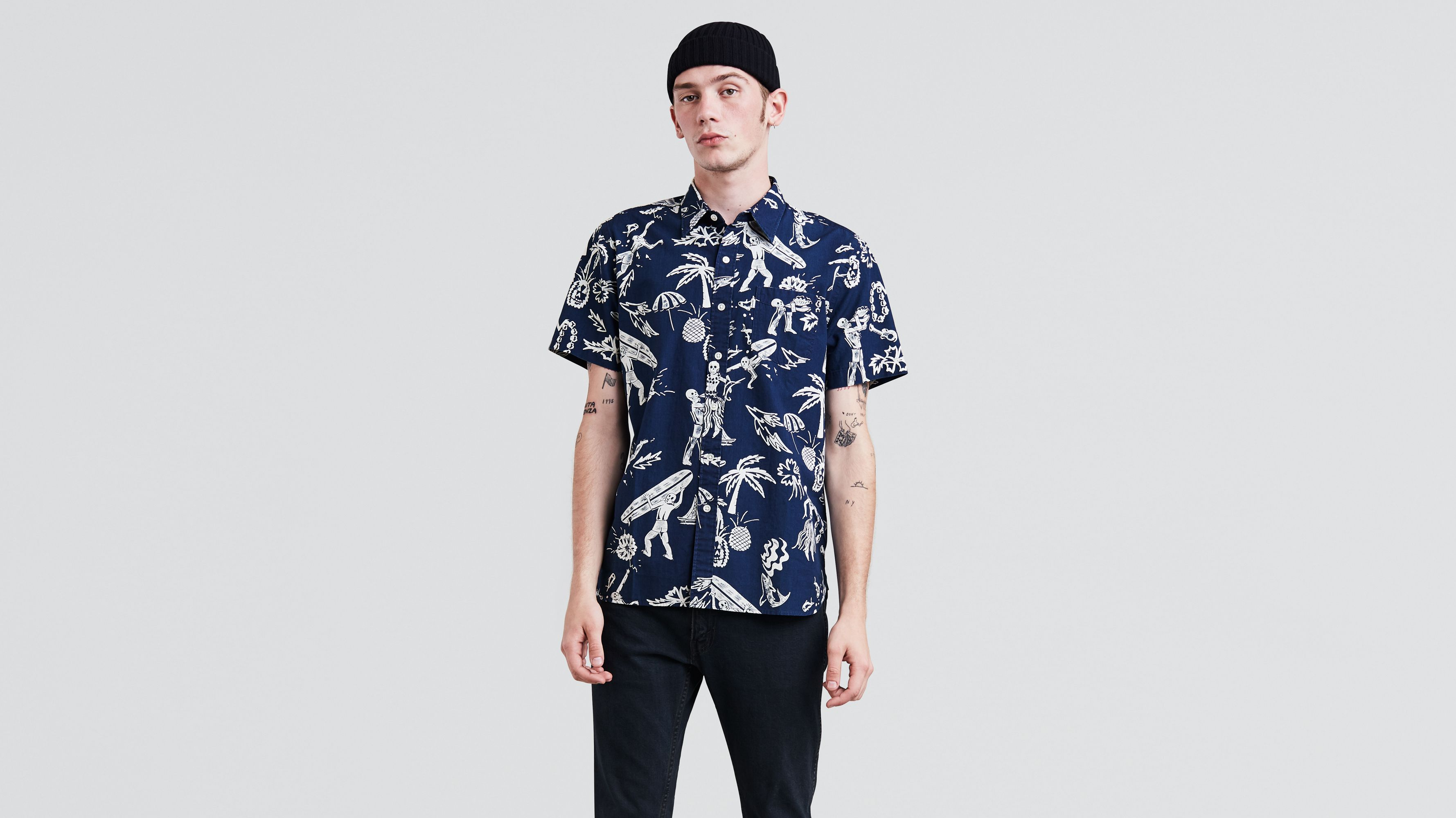 ... Price High-Low, Top Rated. 270 Items. Short Sleeve Sunset One Pocket  Shirt