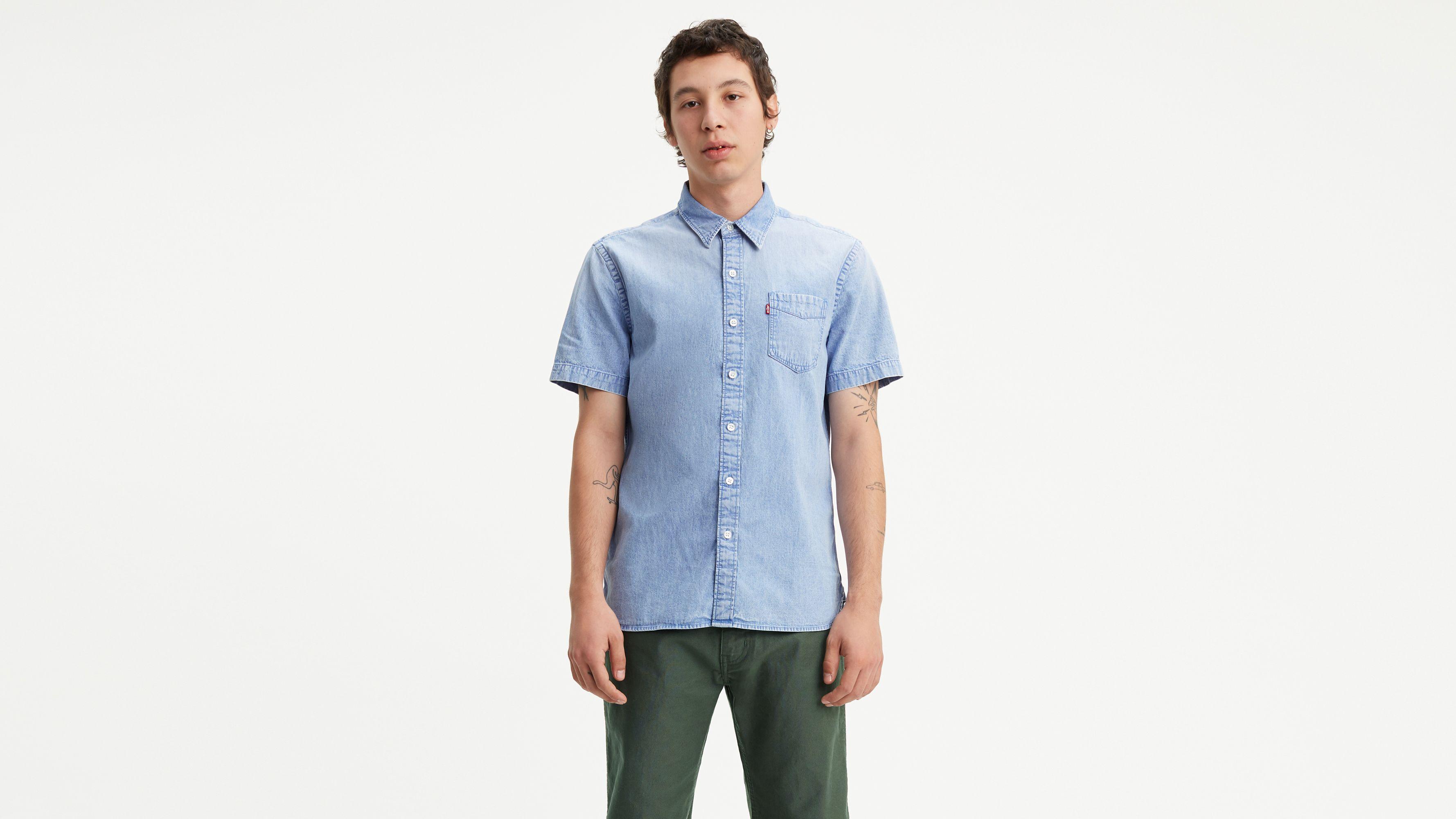 5cff07219 Short Sleeve Sunset One Pocket Shirt - Blue | Levi's® US