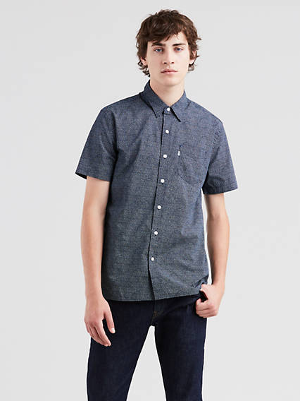 Short Sleeve Sunset One Pocket Shirt 1fce3d74b