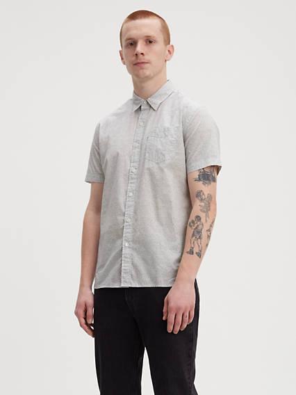 Chemise manche courte à poche crépuscule