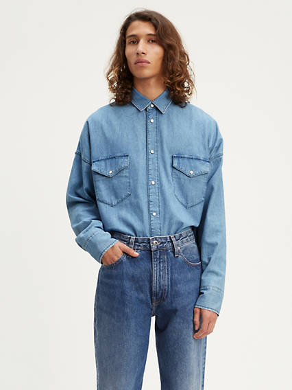 Drop Shoulder Western Shirt