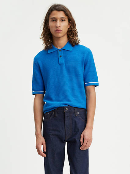 Levi's® Made & Crafted® Crochet Stitch Polo Shirt