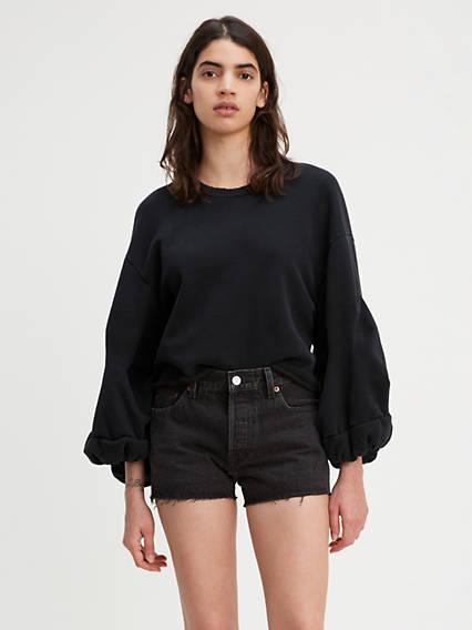 Flounce Crewneck Sweatshirt