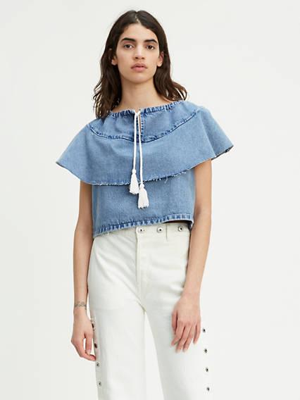 Levi's® Made & Crafted® Denim Ruffle Top
