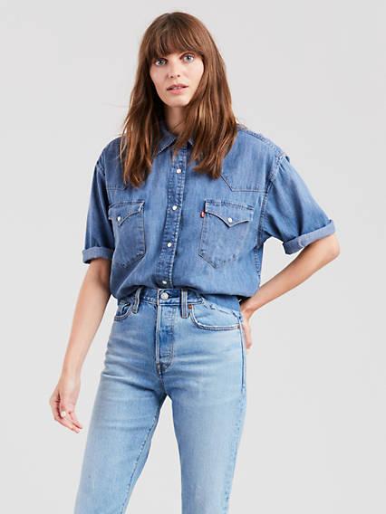 71141a7221 Western Shirts for Women - Shop Denim Shirts